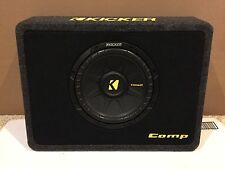 "Kicker TCompS10 10"" Subwoofer in Shallow Mount Enclosure Box 2 Ohm 40TCWS102"