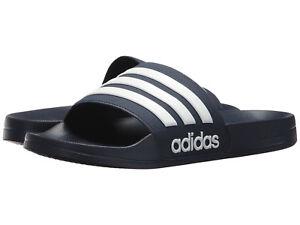 a7138a696bab4 Men Adidas NEO CF Adilette Slide Sandal AQ1703 Collegiate Navy White ...