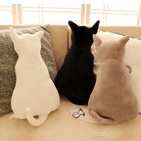 Cartoon Katze Schatten Kissen Dekokissen Plüsch Ausgestopft Couch Sofakissen Nue