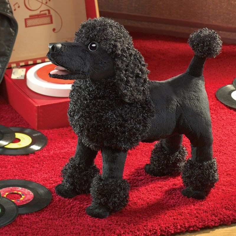 POODLE Dog Puppet  NEW for 2017  in USA  Folkmanis puppet