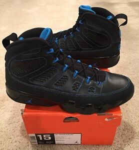 Nike Air Jordan Retro 9 IX Black Bottom Photo Blue White Size 15 ... a6cfd4b2b1
