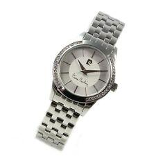 Pierre Cardin Uhr Troca silver Quarz Strass runde Damenarmbanduhr PC107392F01