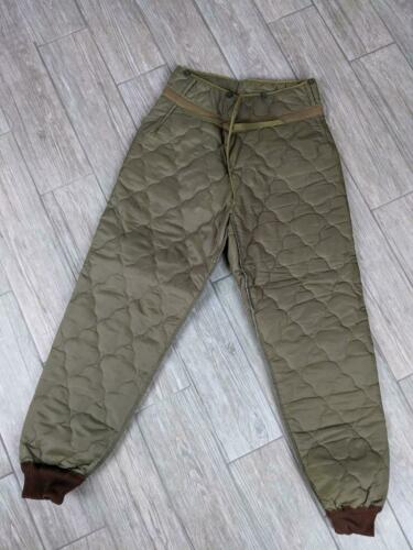 vintage MILITARY army QUILTED thermal pants 36x34