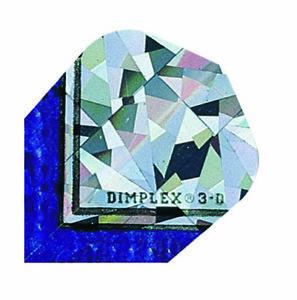 Harrows Dimplex Embossed Dart Flights  Standard Shape  3d Blue - UK, United Kingdom - Harrows Dimplex Embossed Dart Flights  Standard Shape  3d Blue - UK, United Kingdom