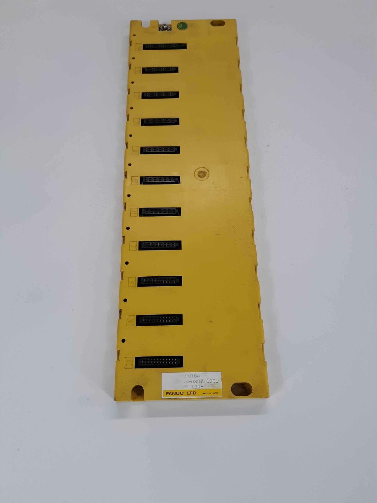 FANUC A03B-0807-C001 I O Base Module ABU10A 10 Slots