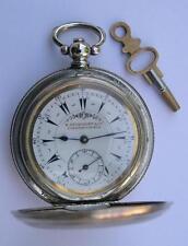 ANTIQUE BILLODES KEY WIND POCKET WATCH SWISS 1860's-OTTOMAN/TURKISH MARKET