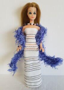 DAWN-DOLL-CLOTHES-Boa-Gown-amp-Jewelry-Set-Handmade-Fashion-NO-DOLL-dolls4emma