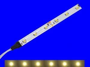 S342-5-Stueck-LED-Waggonbeleuchtung-100mm-warmweiss-analog-digital-mit-Kabel