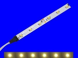S342 - 5 Stück LED Waggonbeleuchtung 100mm warmweiß analog + digital mit Kabel