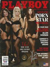 Tera Patrick Signed March 2002 Playboy Magazine PSA/DNA COA Autograph Porn Stars