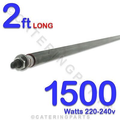 """HE2415 24""""/  2 FT LONG 1500w 1.5kw STRAIGHT ROD TYPE 8mm DRY/WET HEATING ELEMENT"""