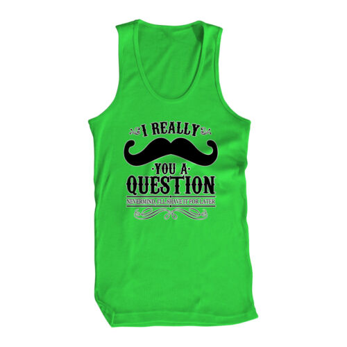 I Really Moustache You A Question Hipster Beard Flannel Culture IG Mens Tank Top