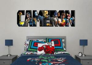 Fortnite Personalized Name Decal Wall Sticker Art Video Game Boys Bedroom Wp258 Ebay