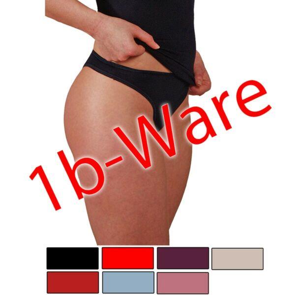 5er Pack Damen String mit kleinen Fehlern aus weichem Modal Slip HERMKO 447050