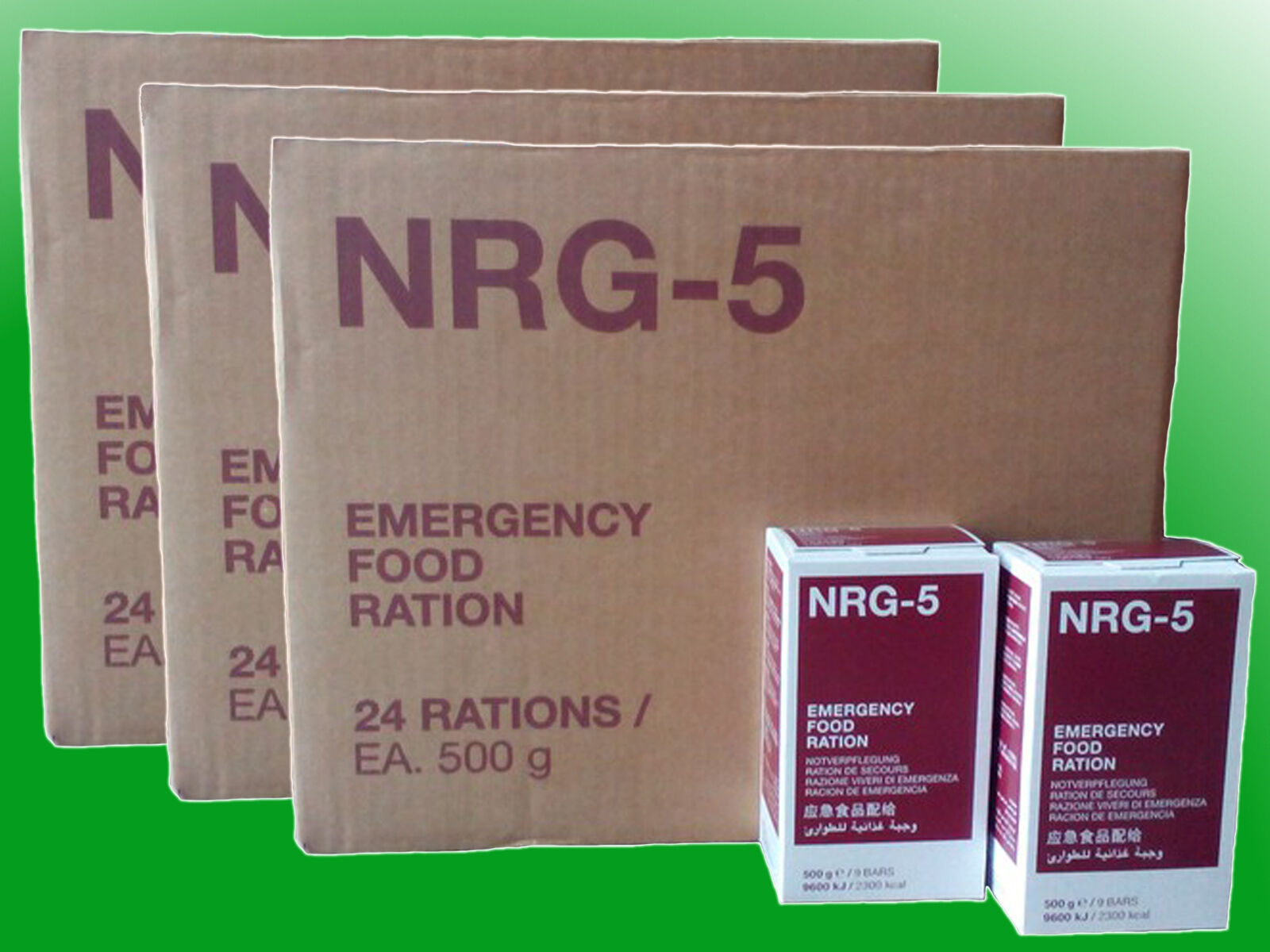 ( /kg)3 Kartons NRG-5 Notnahrung, Notverpflegung, Survival,Langzeitnahrung