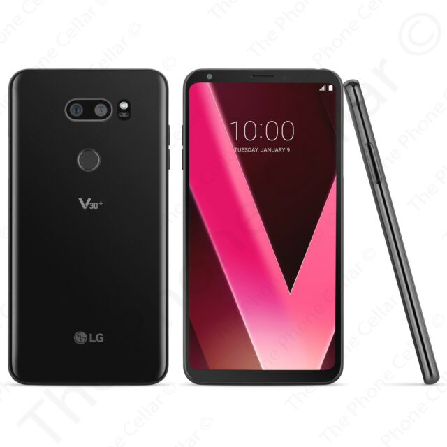 Sprint Locked LG V30 Plus+ Android Smartphone 4G LTE 128GB (Aurora Black) LS998