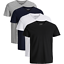 JACK-amp-JONES-Herren-T-Shirt-4er-Pack-Basic-O-Neck-V-Neck-Shirt-S-M-L-XL-XXL Indexbild 11