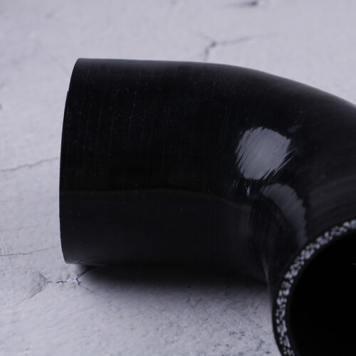 Black 90 degree reducer silicone hose 51-63mm pipe coupler   R