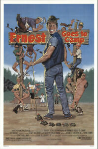 ERNEST GOES TO CAMP (1987) JIM VARNEY ORIGINAL ONE SHEET y