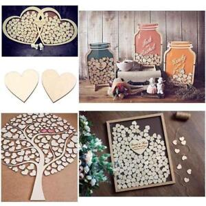 Blank-Plain-Wood-Love-Heart-Shape-for-Weddings-Plaques-Art-Craft-Embellishment