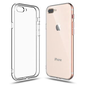 big sale 245f1 58dd8 Details about For iPhone 7 Plus / 8 Plus Clear Transparent Case Shock  Absorption TPU Soft