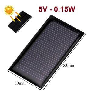 Rationnel Placa Panel Solar 5v 0.15w 30ma - Cargador - Celula Fotovoltaica - 53x30 Mm