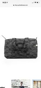 New Quilted Koala Small Duffel Bag Black Camo