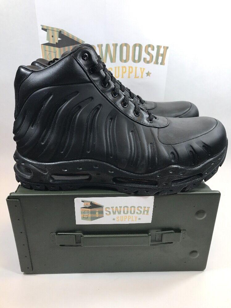 NIKE AIR MAX FOAMDOME FOAMPOSITE BOOTS BLACK-BLACK SZ 8 843749 002