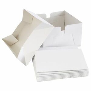 Prime 12 White Folding Cake Box With Lid Bulk 5 Pack Wedding Funny Birthday Cards Online Inifofree Goldxyz