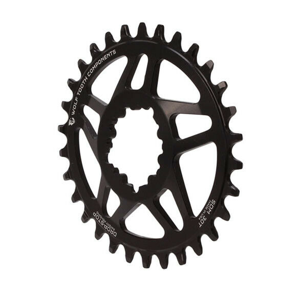 Wolf Tooth Components Drop Stop Elliptical Chainring-34T-Black-New