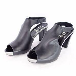 GADEA-sandalette-ESCARPINS-POINTURE-41-coloris-noir-couleur-argent-cuir