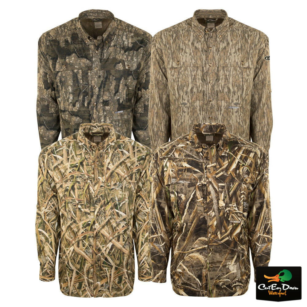 DRAKE  WATERFOWL SYSTEMS EST CAMO WINGSHOOTER'S LONG SLEEVE SHIRT  for sale online