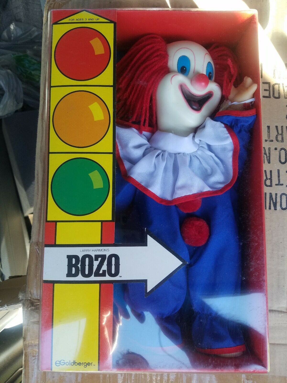 Larry Harmonss Bozo il Clown 12 bambola in Original scatola