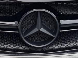 75 mm Wheel Centre Caps-NOIR et CHROME Mercedes Benz CLS Classe Modèles