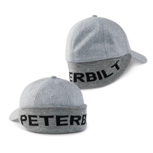 peterbilt semi diesel trucker hat cap pete ball gear wool ear neck flap fitted