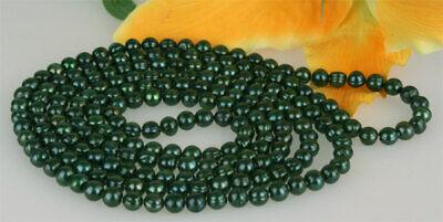 Süswasser Perlenkette Tahiti Black Violett ca 160cm Endlos 7-8mm Endlos K105 NEU