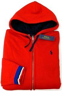 Orig-148-Polo-Ralph-Lauren-Hoodie-Long-Sleeve-Red-Hooded-Sweatshirt-Mens-XL-NEW