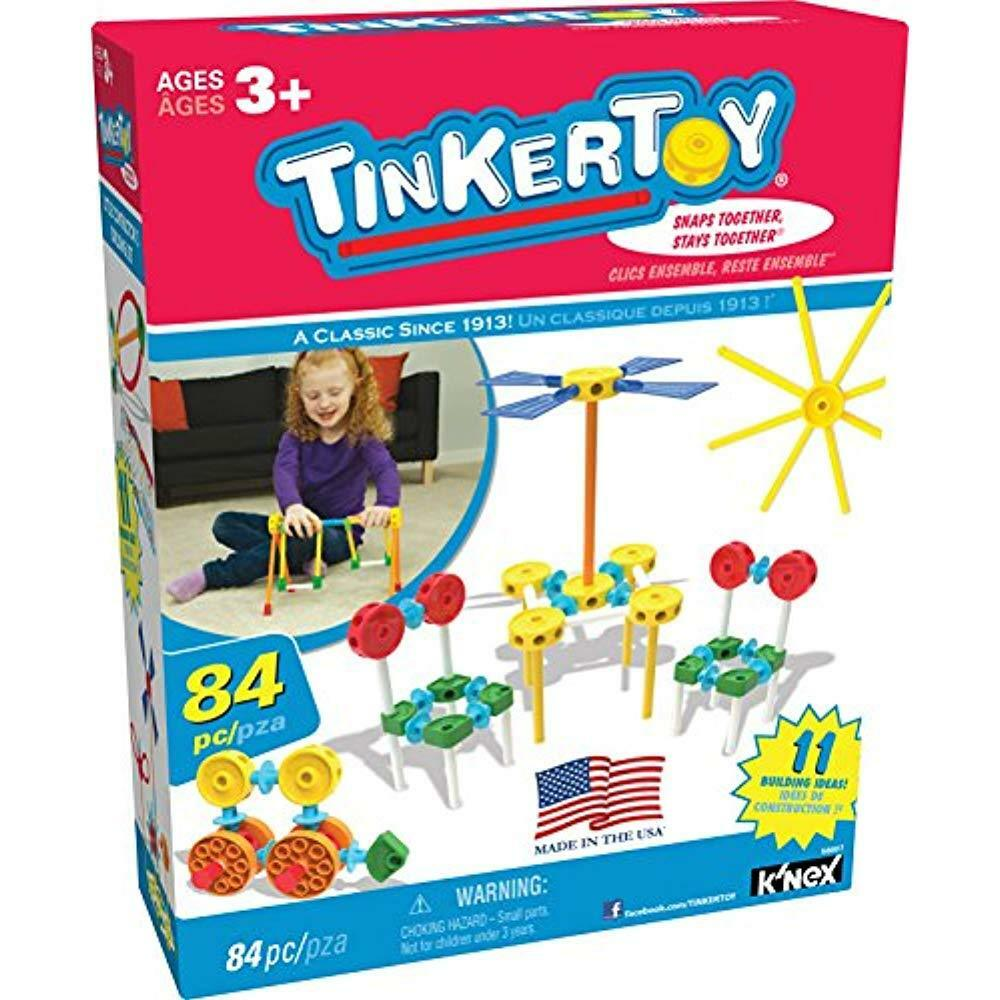 Building Sets Tinkertoy Little Constructor's 84 Pieces Ages 3+ Preschool Preschool Preschool Toy 4537b6