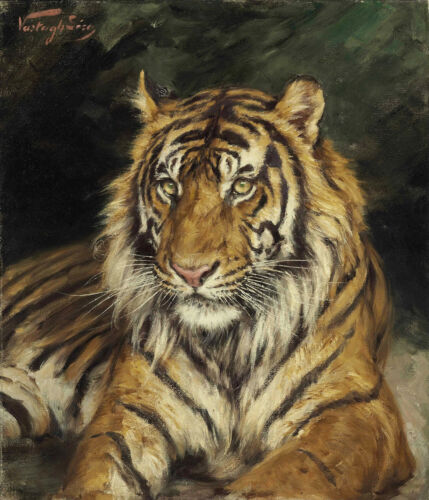 PAINTING VERSTAGH RECLINING TIGER XXL POSTER WALL ART PRINT LLF0479