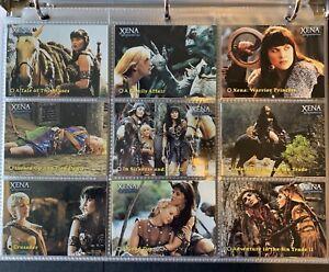 Xena-The-Warrior-Princess-Seasons-4-amp-5-72-Cards-Set-2001