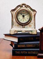 Clock Shelf / Desk Antique Style Distressed Cream Wood 7 Tall