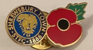 Shrewsbury Town Wear With Pride Collectable football Club pin badge