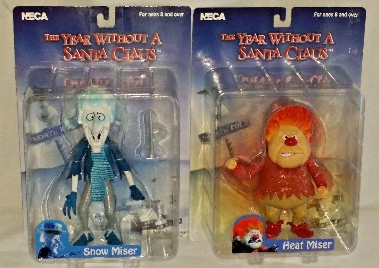 NECA Año Sin Santa Claus 2006 Heat y nieve Miser 7  Acción Figura Conjunto de 2