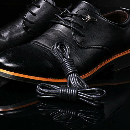 1Pair Waxed Dress Shoelaces Leather Boot String Sports Shoe Laces Various Sizes