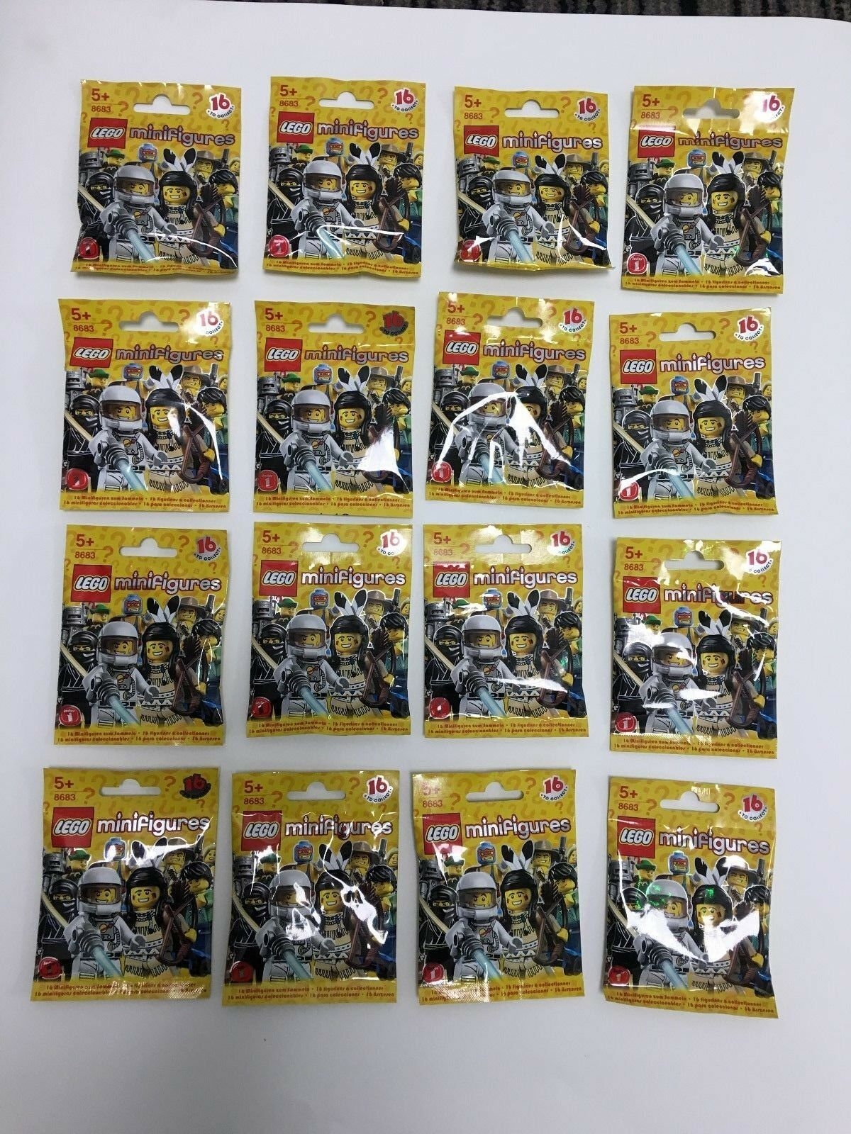LEGO Minifigures Series 1 - Full Set - 8683 - Brand New & Factory Sealed