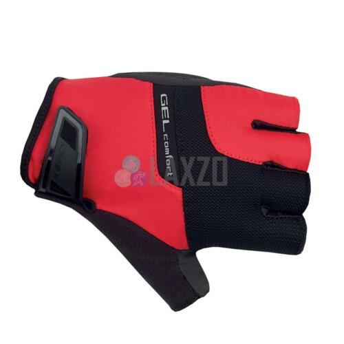 CYCLISME Mitt Gants court doigt Chiba Confort Gel Active rouge//noir-XLarge