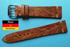 NEU-Vintage-Rustika-Leder-18mm-Uhrenarmband-handgenaeht-Made-in-Germany