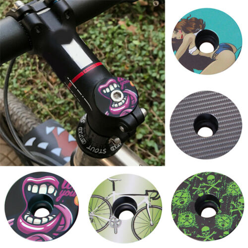 1Pc Bicycle Headset Fork Top Cap Bowl Cover Metal For MTB Road Bike Stem Part