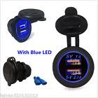 Blue LED Angel Eye Ring For 12V Dual USB Charger Power Adapter Cigarette lighter