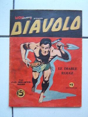 MON JOURNAL /  DIAVOLO / NUMEROS  1  LE DIABLE ROUGE // 1948